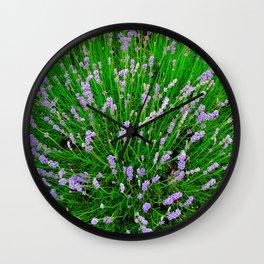 Lavender Close Up Wall Clock