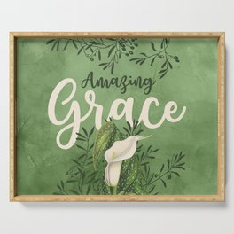 Amazing Grace (green) Serving Tray