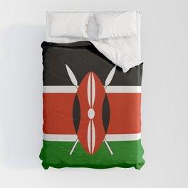Kenyan flag of Kenya Duvet Cover
