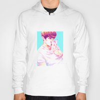 shinee Hoodies featuring Minho & Kitten by sophillustration
