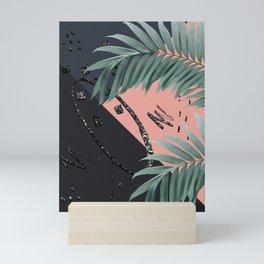 Night Palms Cali Vibes Abstract Glitter Glam #3 #tropical #decor #art #society6 Mini Art Print