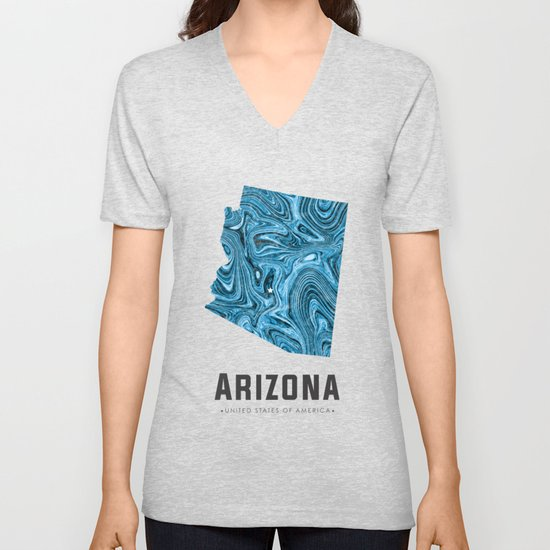 Arizona - State Map Art - Abstract Map - Blue by grafiikka