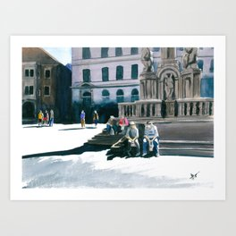 Cesky Krumlov Square Art Print
