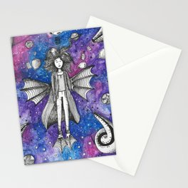 Woman from the galaxy Stationery Cards