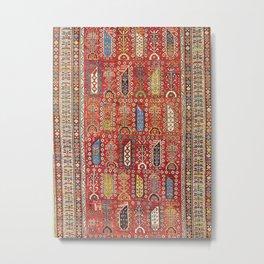 Shirvan Caucasian Antique Carpet Metal Print