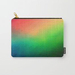 Where to? Textured rainbow color blur Carry-All Pouch