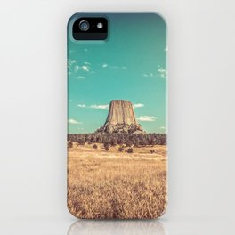 Devil's Tower National Monument Wyoming iPhone Case