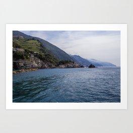 Away to Cinque Terre Art Print