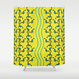 Contemporary Artwork Design Flamingos Shower Curtain