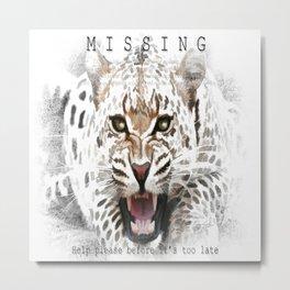 Jaguar MISSING Metal Print