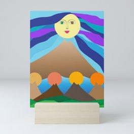 Mother mountain Mini Art Print