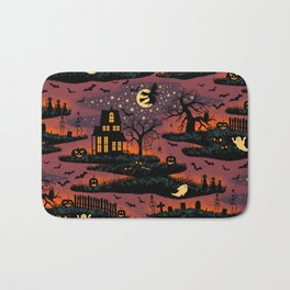 Halloween Night - Bonfire Glow Bath Mat