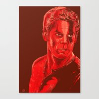 dexter Canvas Prints featuring Dexter by Giuseppe Cristiano