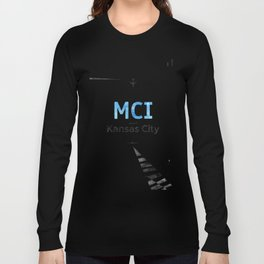 Kansas City Airport code poster Long Sleeve T-shirt