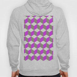 Diamond Repeating Pattern In Ultra Violet Purple and Grey Hoody