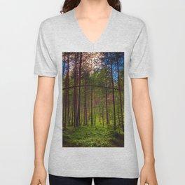 Magical Forest (Color) Unisex V-Neck