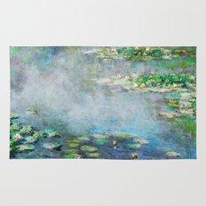 1906 Waterlilies oil on canvas. Claude Monet. Rug