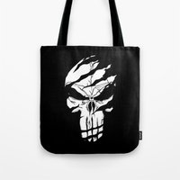 punisher Tote Bags featuring Punisher by Spectral stories