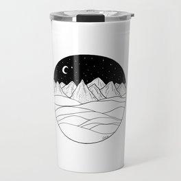 Mountains and the Moon Travel Mug