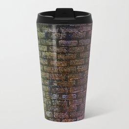 Brick textured wall on canvas ready for graffiti. Metal Travel Mug