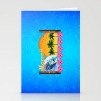 hawaiian Stationery Cards featuring Hawaiian Surfing by MacDonald Creative Studios