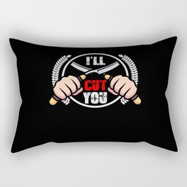 I'll Cut You - Barber Design Rectangular Pillow