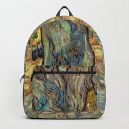 Vincent van Gogh - The Large Plane Trees (Road Menders at Saint-Rémy) 1889 Backpack