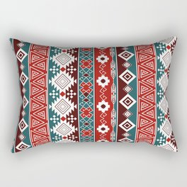 Colorful Aztec pattern with red. Rectangular Pillow