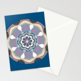 Soothing Third Eye Color Therapy Mandala Art Print Stationery Cards