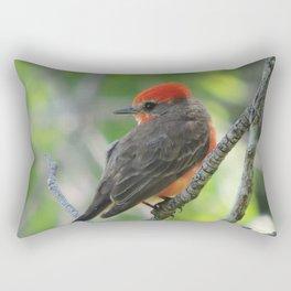 Vermilion Flycatcher Rectangular Pillow