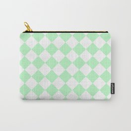 Diamonds - White and Mint Green Carry-All Pouch