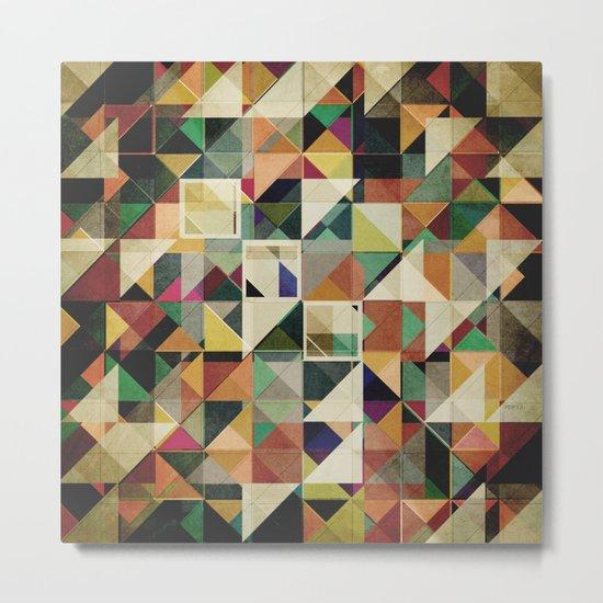 Earth Tones Abstract Metal Print