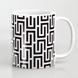 Geometric Pattern #140 (black white) Coffee Mug