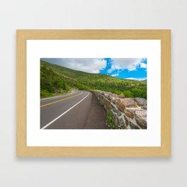 Whiteface Mountain Road Framed Art Print