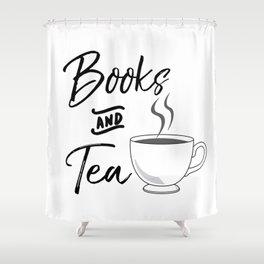 Books & Tea Shower Curtain