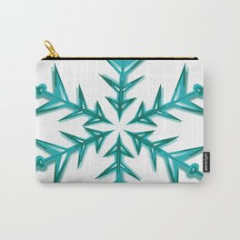 Minimalistic Aquamarine Snowflake Carry-All Pouch