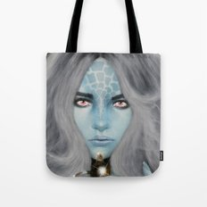 Alien warrior girl Tote Bag