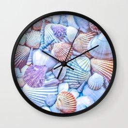 Seashells Everywhere Wall Clock