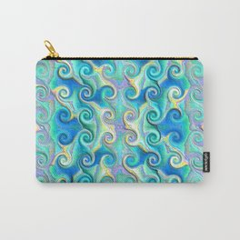 Seamless Wave Spiral Abstract Pattern Carry-All Pouch