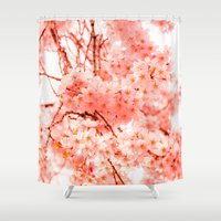 cherry blossoms Shower Curtains featuring Cherry Blossoms by 2sweet4words Designs