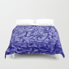 Blue Waves and Ripples Textured Wavelet Paint Art Duvet Cover