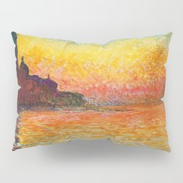 Claude Monet Sunset In Venice Pillow Sham