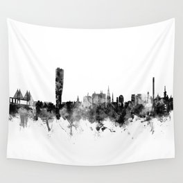 Malmo Sweden Skyline Wall Tapestry