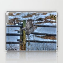 Dive, Dive, Dive! - Great Grey Owl Hunting Laptop & iPad Skin