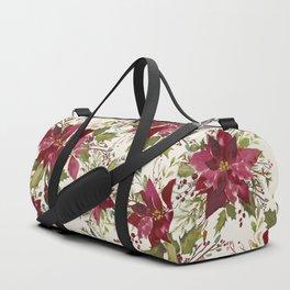 Poinsettia Pattern Duffle Bag