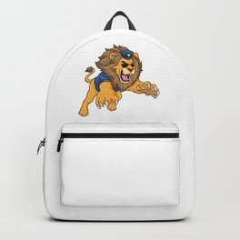Lion as police officer with police hat Backpack