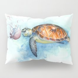 Turtle Noms Pillow Sham