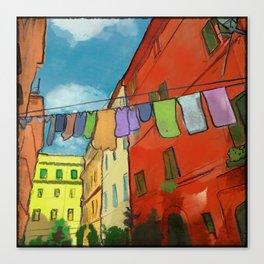 Laundry in Trastevere Canvas Print