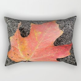 Water color of a sugar maple leaf Rectangular Pillow
