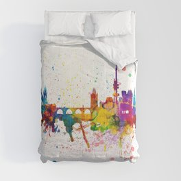 Prague Praha Czech Republic Skyline Comforters